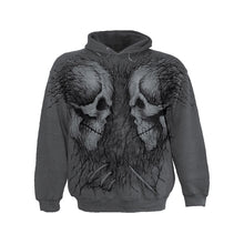 Load image into Gallery viewer, SKULL FOSSILS  - Hooded Sweatshirt Jumbo Print Charcoal