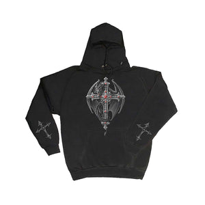 DRAGONS CROSS  - Inner Zipped Hoody Black