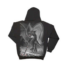 Load image into Gallery viewer, DRAGONS CROSS  - Inner Zipped Hoody Black