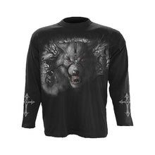 Load image into Gallery viewer, NIGHT OF THE WOLVES  - Longsleeve T-Shirt Black