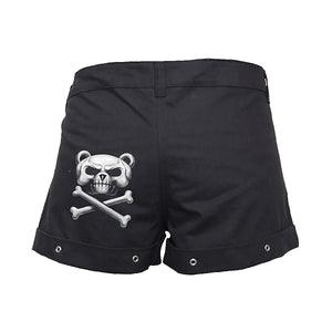 BEWARE THE BEAR  - Hotpants Black