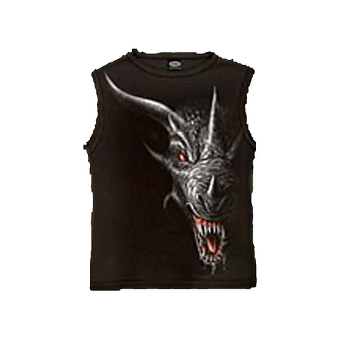 SHADOW DRAGON  - Sleeveless T-Shirt Black