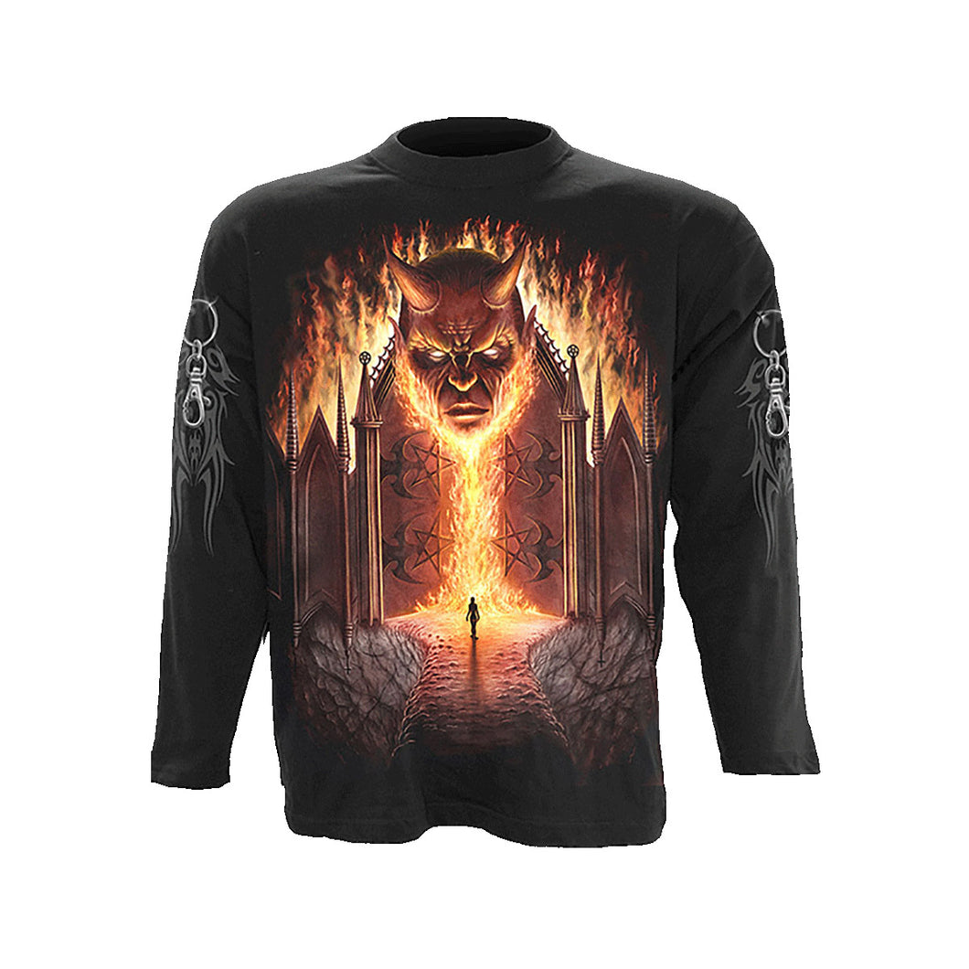 GATES OF HELL  - Longsleeve T-Shirt Black