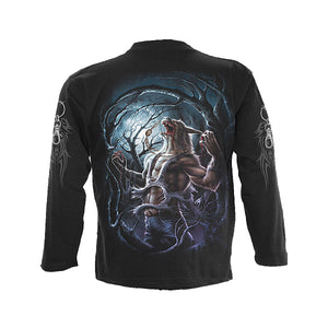 MIDNIGHT HOWL  - Longsleeve T-Shirt Black