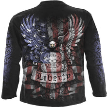 Load image into Gallery viewer, LIBERTY USA - Longsleeve T-Shirt Black
