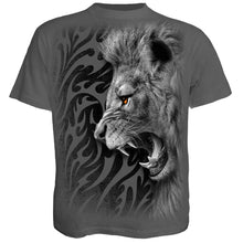 Load image into Gallery viewer, TRIBAL LION - T-Shirt Charcoal