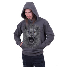 Load image into Gallery viewer, TRIBAL LION - Hoody Charcoal