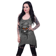 Load image into Gallery viewer, ROOTS OF HELL - Goth Bottom Camisole Dress Grey