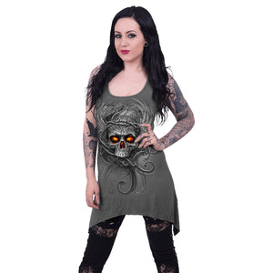 ROOTS OF HELL - Goth Bottom Camisole Dress Grey