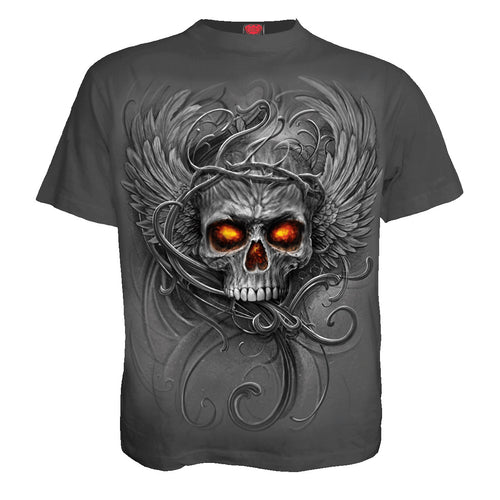 ROOTS OF HELL - Kids T-Shirt Charcoal