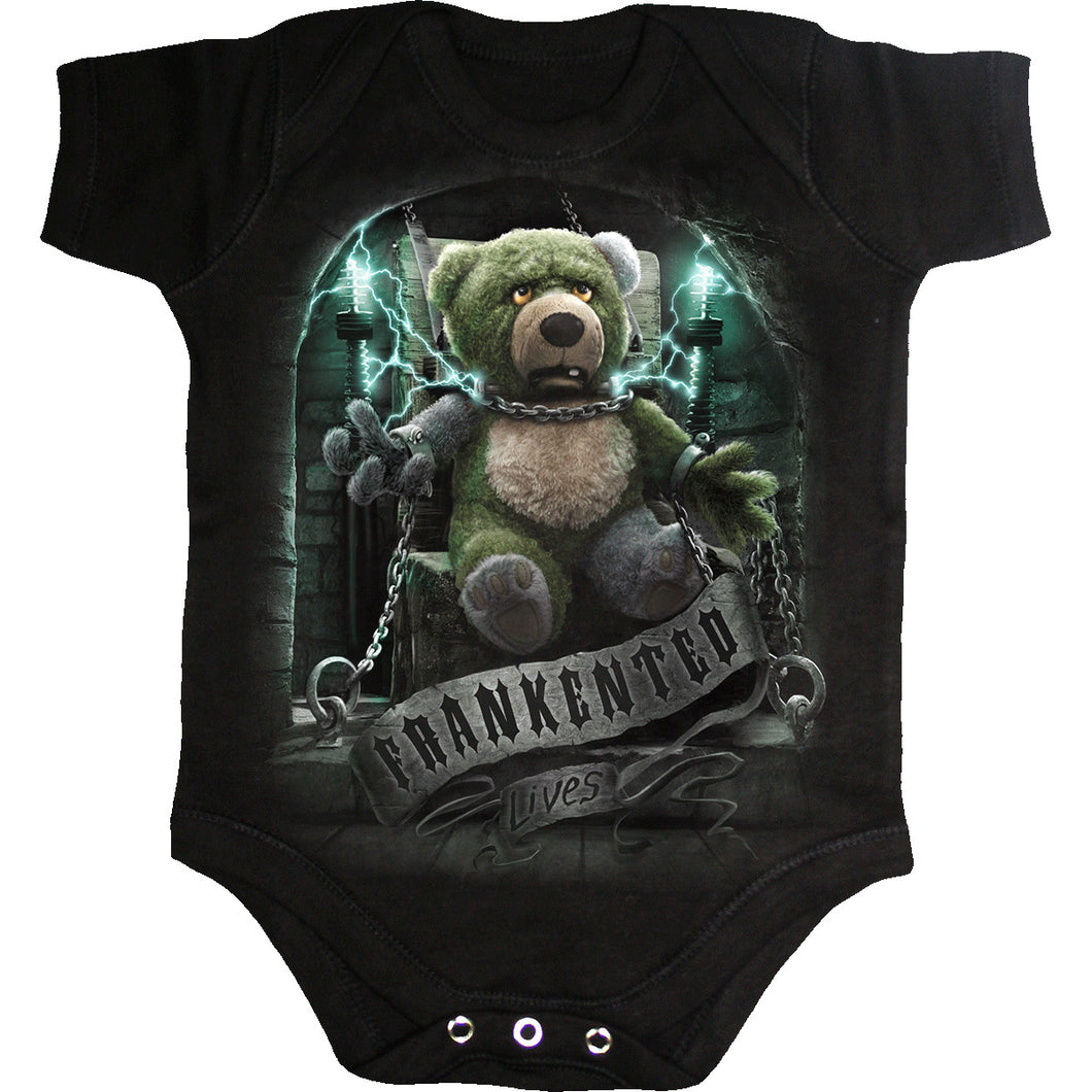 FRANKENTED - Baby Sleepsuit Black