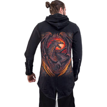 Load image into Gallery viewer, DRAGON FURNACE - Mens Fish Tail Zipper Hoody - Zip Sleeves