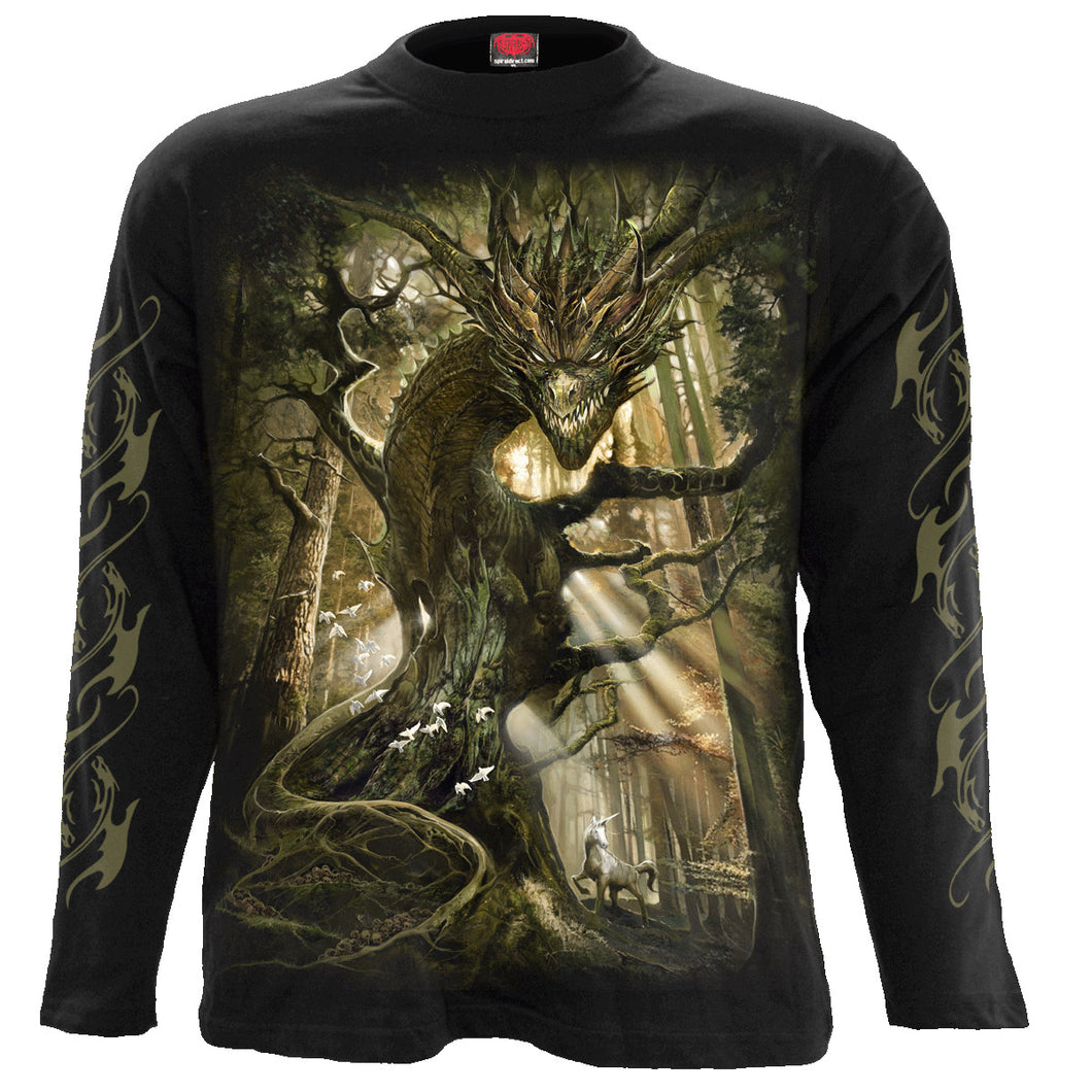 DRAGON FOREST - Longsleeve T-Shirt Black