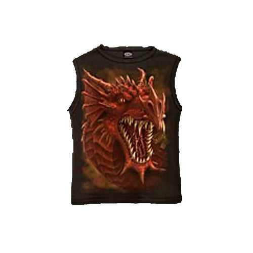 DRAGONS ROAR  - Sleeveless T-Shirt Black