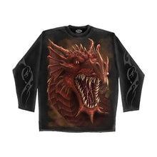 Load image into Gallery viewer, DRAGONS ROAR  - Longsleeve T-Shirt Black