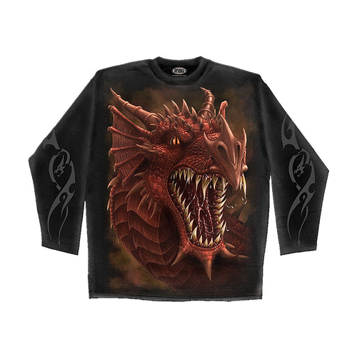 DRAGONS ROAR  - Longsleeve T-Shirt Black