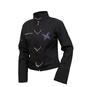 MIDNIGHT FAIRY  - Orient Goth Women Jacket Black