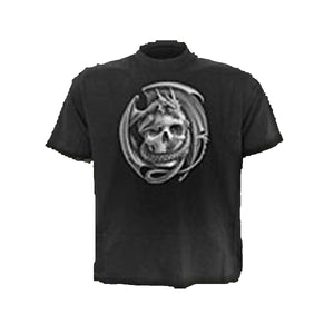 DRAGONSKULL (BK LOGO)  - T-Shirt Black SP