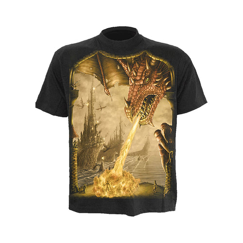 DRAGON ATTACK  - T-Shirt Black