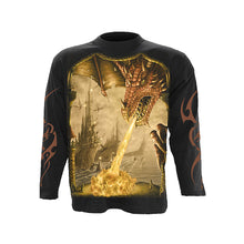 Load image into Gallery viewer, DRAGON ATTACK  - Longsleeve T-Shirt Black