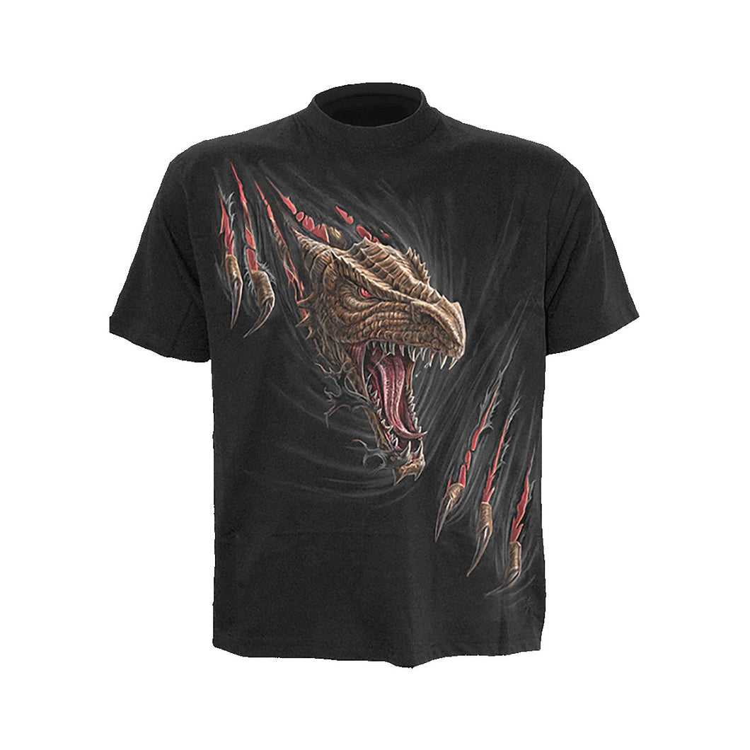 DRAGON RIP  - Kids T-Shirt Black