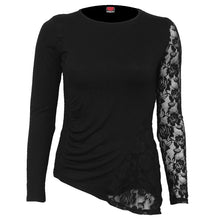 Load image into Gallery viewer, GOTHIC ELEGANCE - One Lace Sleeve Gathered Top