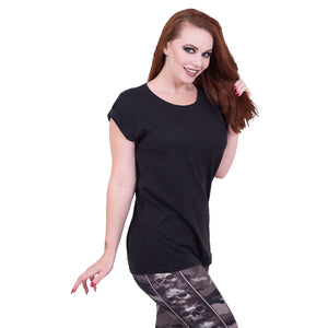 URBAN FASHION - Turnup Sleeve Loosefit Tee