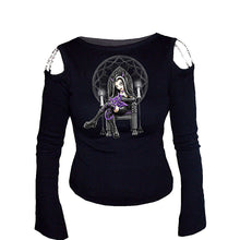 Load image into Gallery viewer, LILITH & LUCI FUR  - Longsleeve Chain Shoulder Black