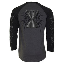 Load image into Gallery viewer, DEATH - Raglan Contrast Longsleeve Black Charcoal