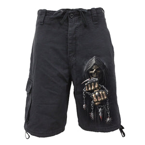 GAME OVER SHORTS - Vintage Cargo Shorts Black