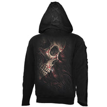Load image into Gallery viewer, SKULL TATTOO REV - Gothic Black Strap Hoody Black