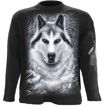 Load image into Gallery viewer, WHITE WOLF - Longsleeve T-Shirt Black