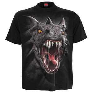 ROAR OF THE DRAGON - Front Print T-Shirt Black