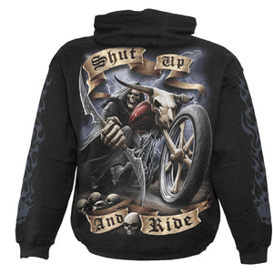 SHUT UP AND RIDE - Hoody Black