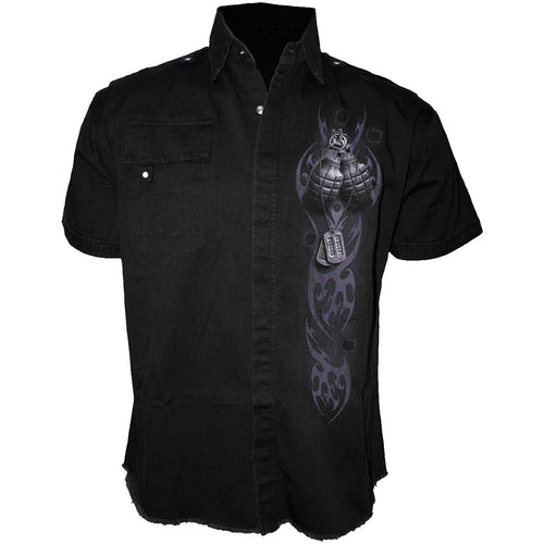 SPECIAL FORCES - Shortsleeve Stone Washed Worker Black