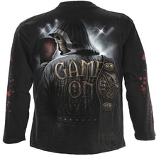 Load image into Gallery viewer, GAME ON - Longsleeve T-Shirt Black