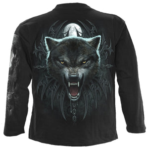 WOLF QUEEN - Longsleeve T-Shirt Black
