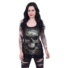 Load image into Gallery viewer, CAMO-SKULL - Razor Back Top Black