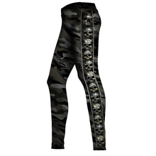 Load image into Gallery viewer, CAMO-SKULL - Allover Comfy Fit Leggings Black