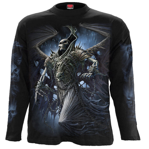 WINGED SKELTON - Longsleeve T-Shirt Black