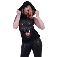 Load image into Gallery viewer, TRIBAL PANTHER - Sleeveless Gothic Hood Black