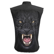 Load image into Gallery viewer, TRIBAL PANTHER - Sleeveless Stone Washed Worker Black