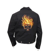 Load image into Gallery viewer, HELLFIRE  - Lined Biker Jacket Black