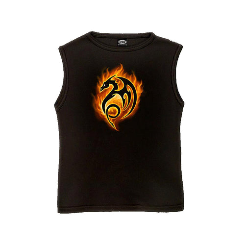 HELL DRAKE  - Sleeveless T-Shirt Black