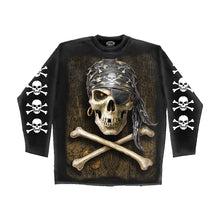 Load image into Gallery viewer, PIRATE SKULL  - Longsleeve T-Shirt Black