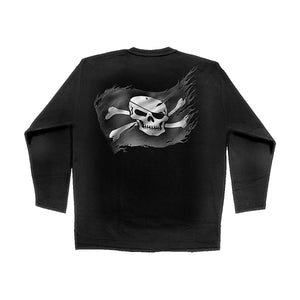 PIRATE SKULL  - Longsleeve T-Shirt Black