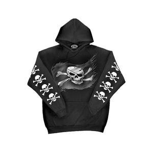 PIRATE SKULL  - Hoody Black