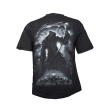 Load image into Gallery viewer, SHADOW OF DEATH  - Rollup Sleeve T-Shirt Black