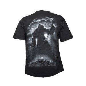 SHADOW OF DEATH  - Rollup Sleeve T-Shirt Black