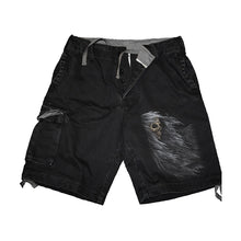 Load image into Gallery viewer, SHADOW OF DEATH  - Vintage Cargo Shorts Black